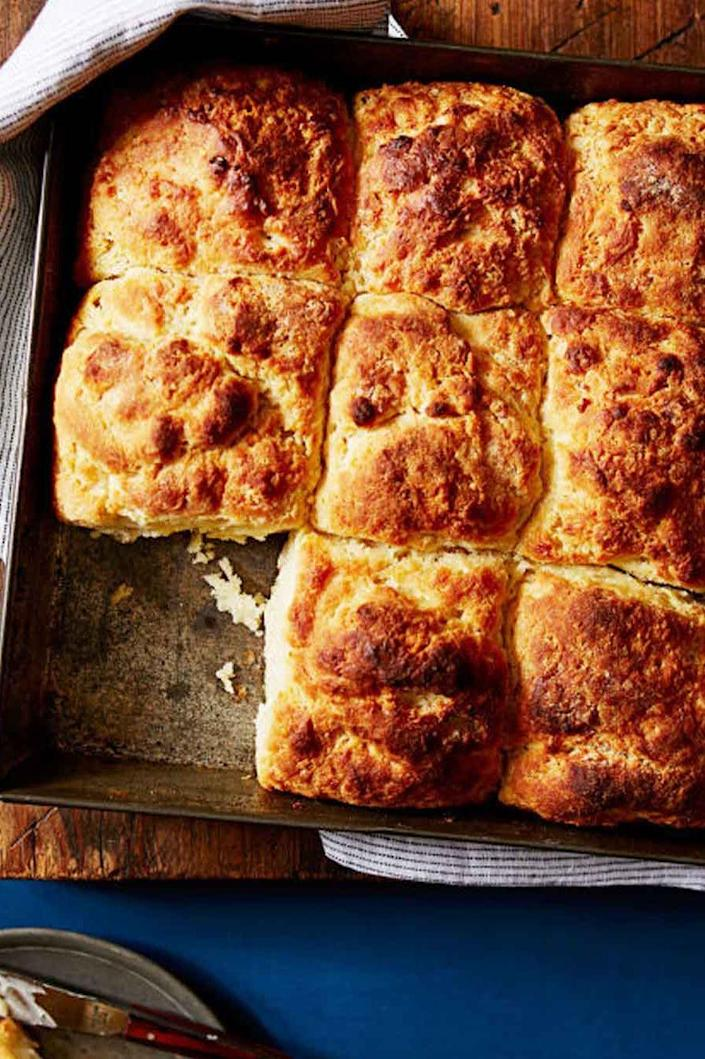 """<p>There's nothing quite like fresh biscuits to start your day. Mom will probably ask to take home leftovers — if there are any. </p><p><strong><em><a href=""""https://www.womansday.com/food-recipes/food-drinks/recipes/a39558/quick-n-easy-southern-biscuits-recipe-ghk0714/"""" rel=""""nofollow noopener"""" target=""""_blank"""" data-ylk=""""slk:Get the Quick 'n' Easy Southern Biscuits recipe."""" class=""""link rapid-noclick-resp"""">Get the Quick 'n' Easy Southern Biscuits recipe.</a> </em></strong></p>"""