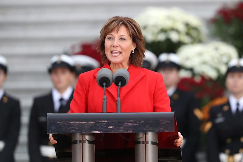 """Premier of British Columbia Christy Clark also praised the """"exemplary work,"""" of forestry and firefighting crews battling raging wildfires"""