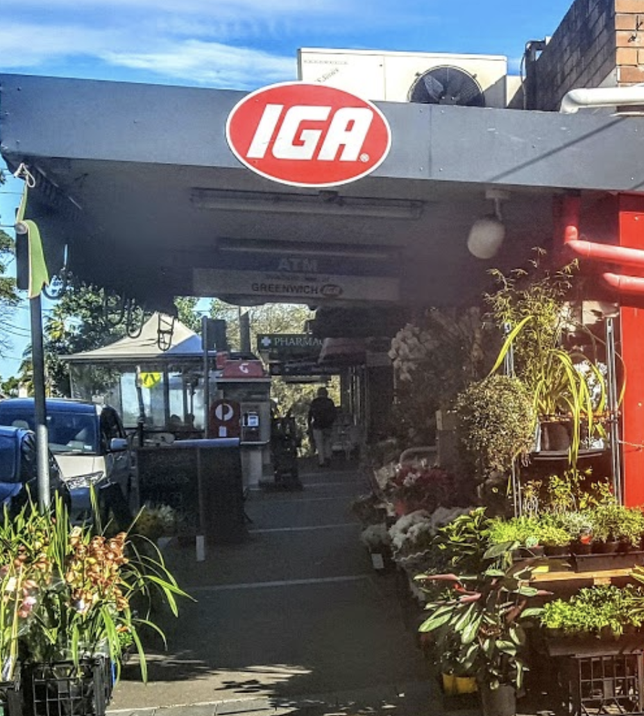 Front of an IGA store in Australia.