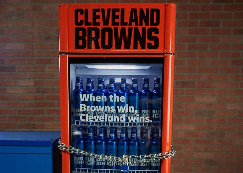 Bud Light's puts free beer in Browns 'Victory Fridges'