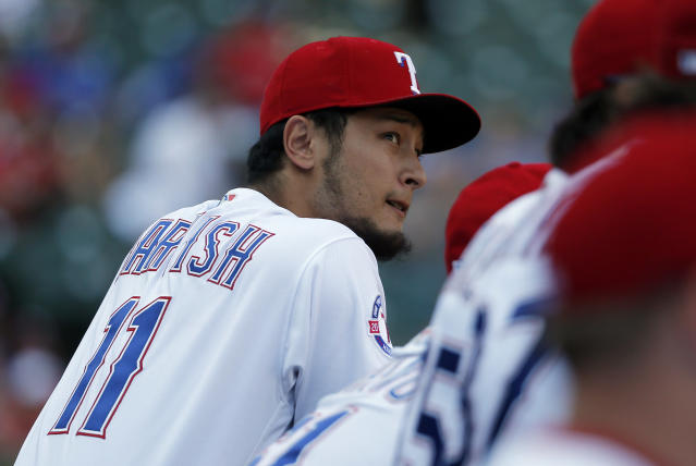 Yu Darvish was dealt to the Dodgers in a last-minute deal Monday. (AP Photo/Tony Gutierrez)