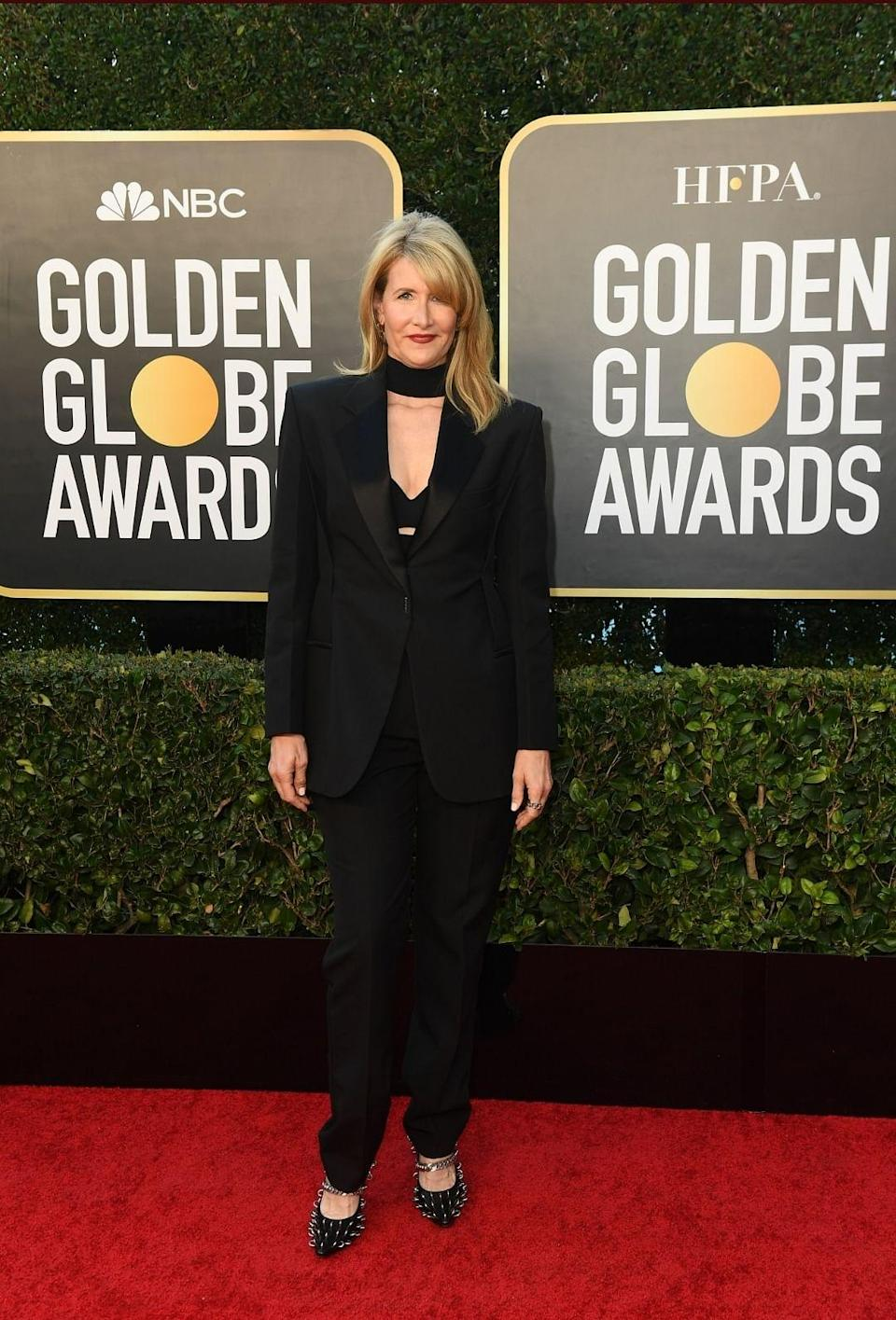 <p>Laura Dern at the Golden Globes in a Givenchy.</p>