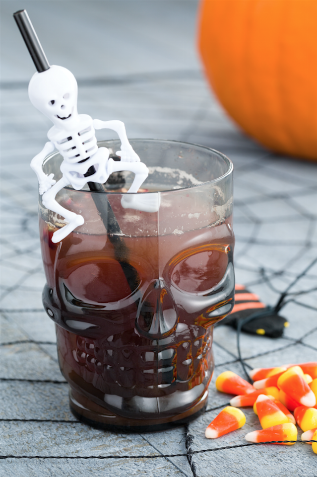 "<p>Double, double, toil, and trouble—make your cauldron bubble with this spiked pomegranate-pineapple punch. And then put on the classic Mary Kate and Ashley movie on in the background if you want it to be a party your guests won't forget (that moonstone, though). </p><p>Get the recipe from <a href=""https://www.delish.com/cooking/recipe-ideas/videos/a44091/boozy-witchs-brew-is-the-drink/"">Delish</a>.</p>"