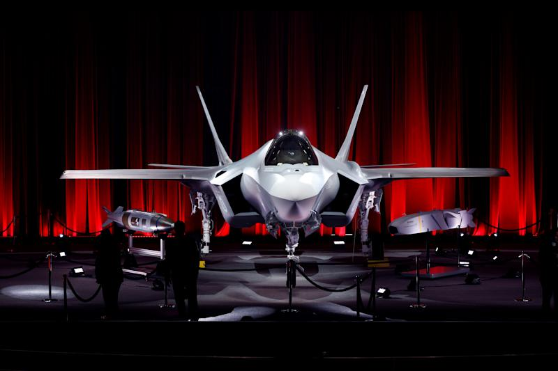 Pictured here is the first F-35 stealth fighter jet that was destined for Turkey. In July, the U.S. canceled Turkey's order for the advanced jet after it took delivery of an S-400 Russian missile system. | Atilgan Ozdil/Anadolu Agency/Getty Images