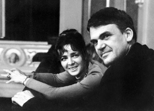 Writer Milan Kundera and his wife Vera received Czech  papers at Prague's embassy in Paris, four decades after Communist-ruled Czechoslovakia stripped him of citizenship