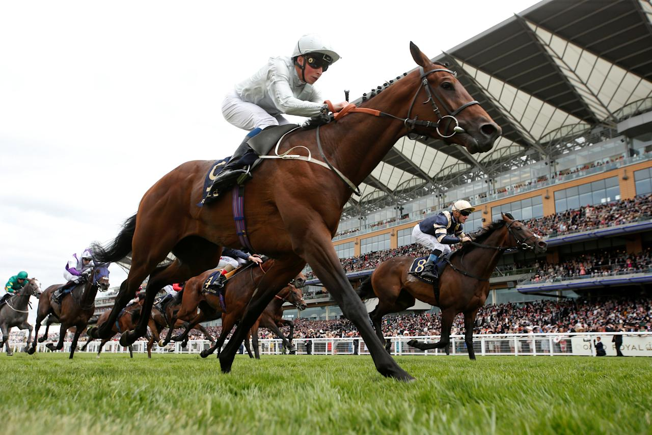 Horse Racing - Royal Ascot - Ascot Racecourse, Ascot, Britain - June 23, 2017   William Buick on Permian wins the 3.05 King Edward VII Stakes   Action Images via Reuters/Matthew Childs