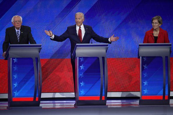 <p>Biden participates in the 2020 Democratic Presidential Debate at Texas Southern University's Health and PE Center on September 12, 2019 in Houston, Texas. This debate was between the top 10 candidates, after the field was cut from more than twice that. </p>