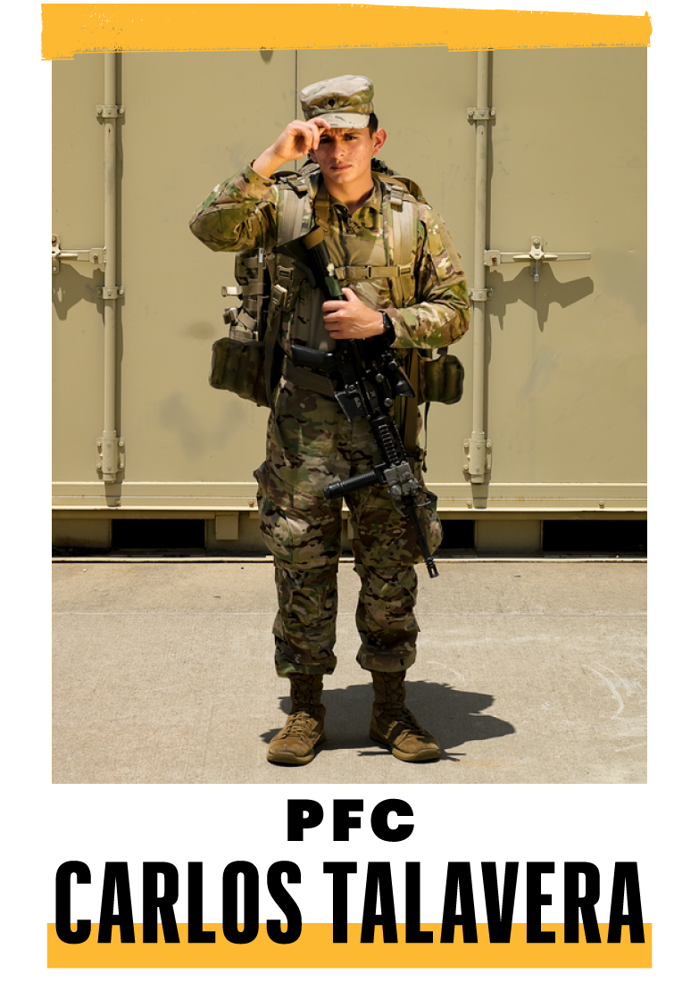 <p><strong>Hometown:</strong> Houston<br><strong>Position:</strong> Wheeled-vehicle mechanic<br><br><strong>I WENT AHEAD </strong>and enlisted in the Army. My mom cried when I told her. She didn't want me jumping out of airplanes. I was surprised by the bonds I made. They're stronger than what I knew from civilian life. Still, it's hard leaving my family. On the flight to Kuwait, I remember thinking how lucky I was to have the things I have.I'm more self-motivated now. When I was home, my dad mentioned a problem with his truck, and I went ahead and fixed it, which surprised him. I used to have to be told to do things like that.</p>