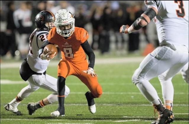 Casey Henderson wore No. 8 for Refugio High School. (Courtesy of Nicole Henderson)