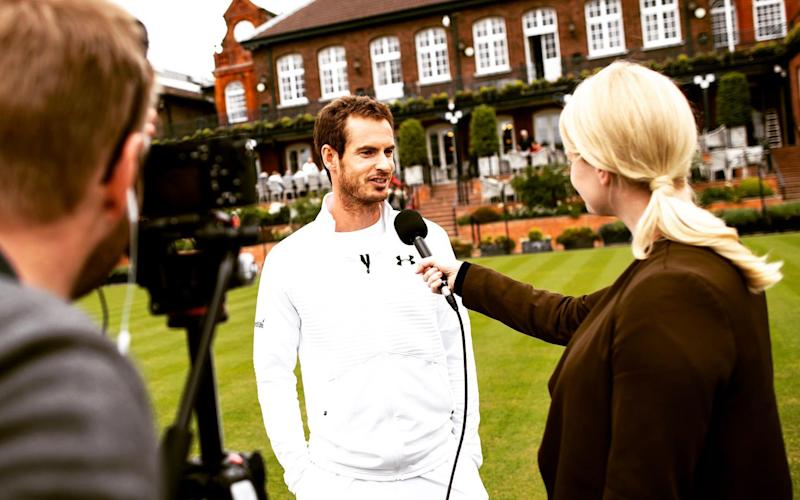 Andy Murray talks to the Tennis Podcast's Catherine Whitaker - 2017 Getty Images