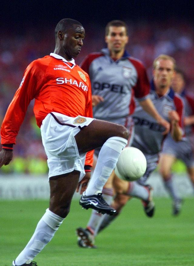 Andy Cole was part of Manchester United's treble-winning side in 1999
