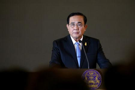 Thailand's Prime Minister Prayuth Chan-ocha speaks during a news conference on the Fourth Year Performance Report at Government House in Bangkok, Thailand, February 1, 2019. REUTERS/Athit Perawongmetha/File Photo