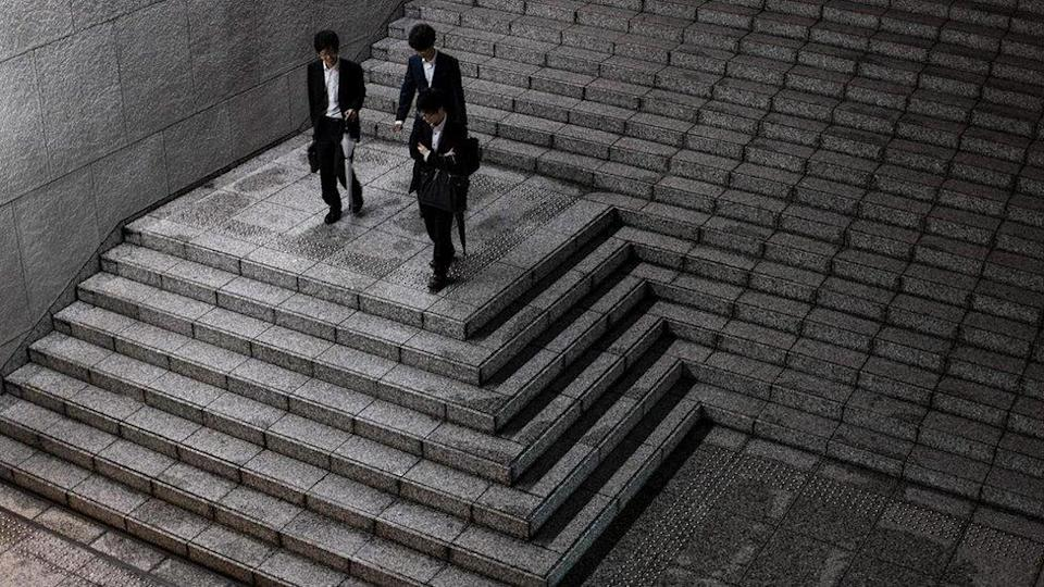 Young salarymen (office workers) in Tokyo