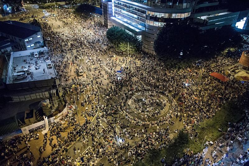 Thousands of people rallied in the 2014 protests (Lam Yik Fei/Getty Images)