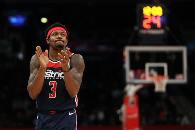 Wizards guard Bradley Beal will have plenty of trade suitors this offseason. (Patrick Smith/Getty Images)