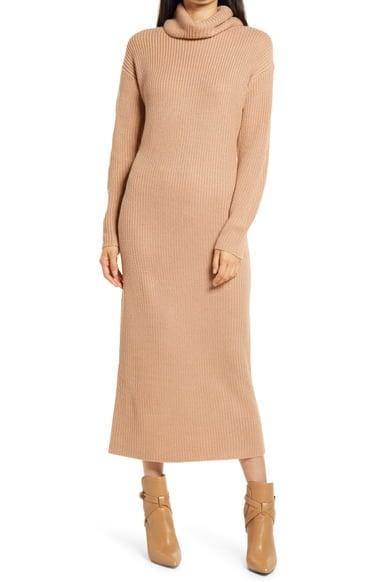 <p>Sweater dresses are a part of our uniform, and we want to be in this <span>Charles Henry Long Sleeve Turtleneck Sweater Dress</span> ($45, originally $89).</p>