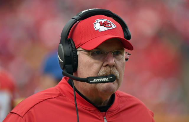 Andy Reid didn't like what he saw in Sunday's loss to Buffalo (AP Photo/Ed Zurga)
