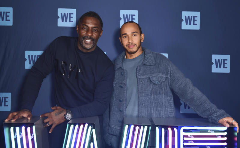 Photo by: KGC-03/STAR MAX/IPx 2020 3/3/20 Lewis Hamilton and Idris Elba at the WE Day UK held at SSE Arena Wembley, Arena Square, Engineers Way in London, England.