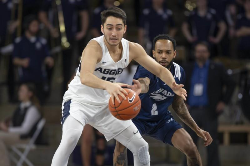 FILE PHOTO: NCAA Basketball: Nevada at Utah State