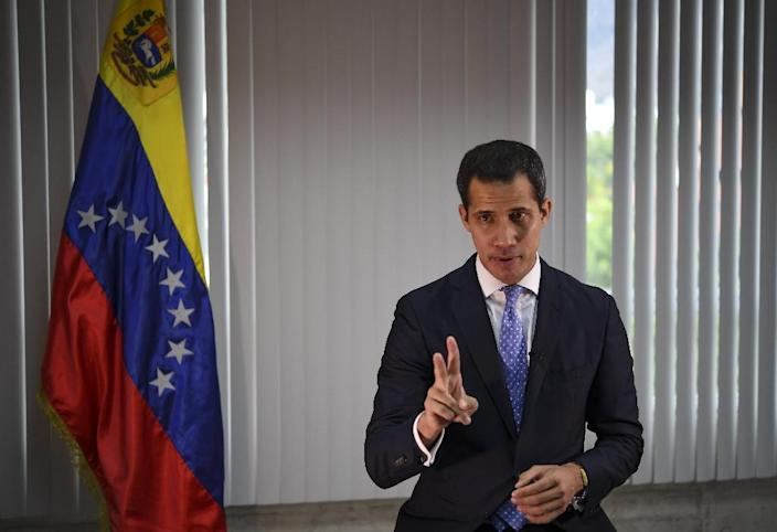 Guaido has tried to keep up the pressure on President Nicolas Maduro with street protests (AFP Photo/Yuri CORTEZ)
