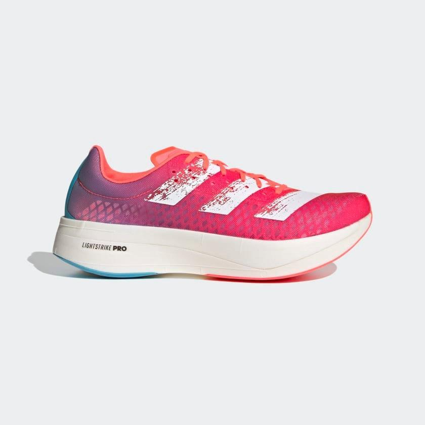 """<h3>Adidas Adizero Adios Pro Running Shoes<br></h3><br>""""I've said it before and I'll say it again: <a href=""""https://www.refinery29.com/en-us/2020/10/10021814/adidas-adizero-adios-pro-running-shoe-review"""" rel=""""nofollow noopener"""" target=""""_blank"""" data-ylk=""""slk:I love these sneakers"""" class=""""link rapid-noclick-resp"""">I love these sneakers</a>. After wearing them for over a month now, I can confidently say that yes — they make me faster."""" — <em>Mirel Zaman, senior health & wellness editor</em><br><br><strong>Adidas</strong> Adizero Adios Pro Running Shoes, $, available at <a href=""""https://go.skimresources.com/?id=30283X879131&url=https%3A%2F%2Fwww.adidas.com%2Fus%2Fadizero-adios-pro-running-shoes%2FG55661.html"""" rel=""""nofollow noopener"""" target=""""_blank"""" data-ylk=""""slk:Adidas"""" class=""""link rapid-noclick-resp"""">Adidas</a>"""