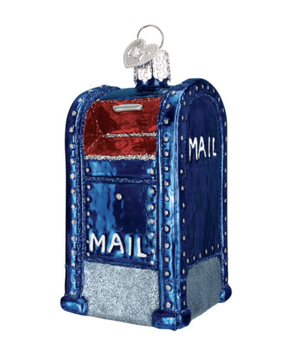"<p>usps.com</p><p><strong>$15.95</strong></p><p><a href=""https://store.usps.com/store/product/stamp-gifts/glass-mailbox-ornament-P_842997"" rel=""nofollow noopener"" target=""_blank"" data-ylk=""slk:Shop Now"" class=""link rapid-noclick-resp"">Shop Now</a></p><p>Speaking of Christmas, this glass ornament is the perfect ode to the childhood tradition of writing to Santa. </p>"