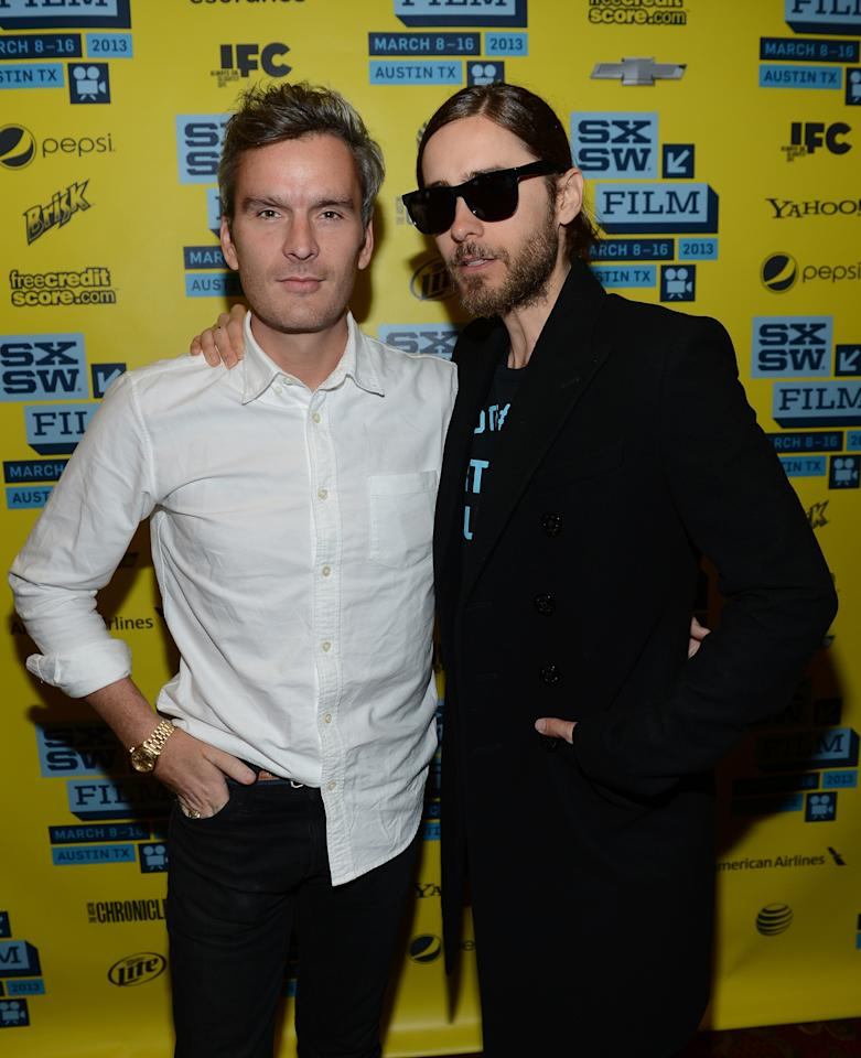 "AUSTIN, TX - MARCH 13:  Musician/actor Balthazar Getty (L) and musician/director Jared Leto attend the green room photo op for ""Artifact"" during the 2013 SXSW Music, Film + Interactive Festival at the Paramount Theatre on March 13, 2013 in Austin, Texas.  (Photo by Michael Buckner/Getty Images for SXSW)"
