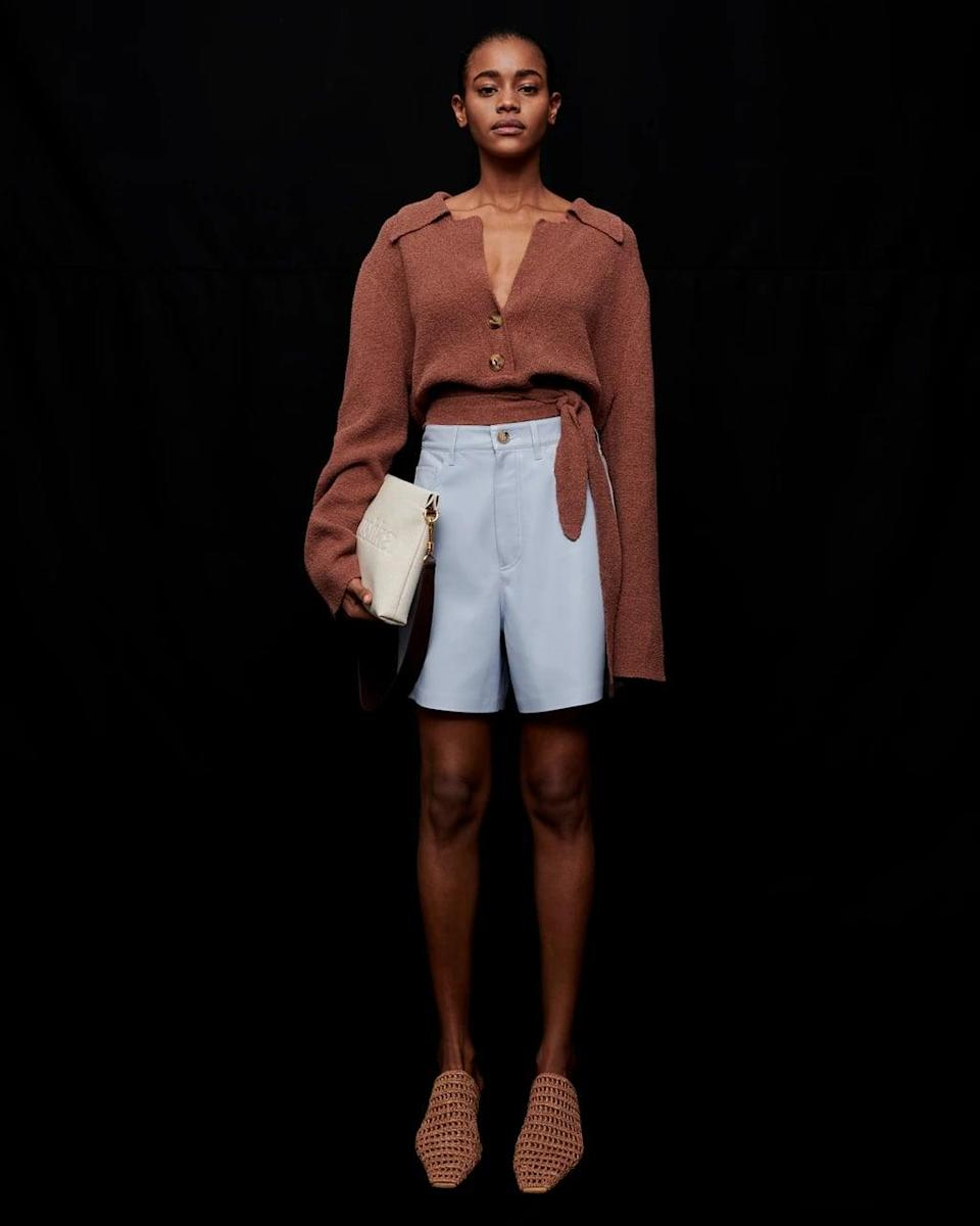 """<p>""""I always look for a few new pieces each season to refresh my wardrobe. I love these <span>Nanushka Vegan Shorts</span> ($445) to wear with slides and oversize blazers this spring."""" - Dana Avidan Cohn, POPSUGAR executive style director</p>"""