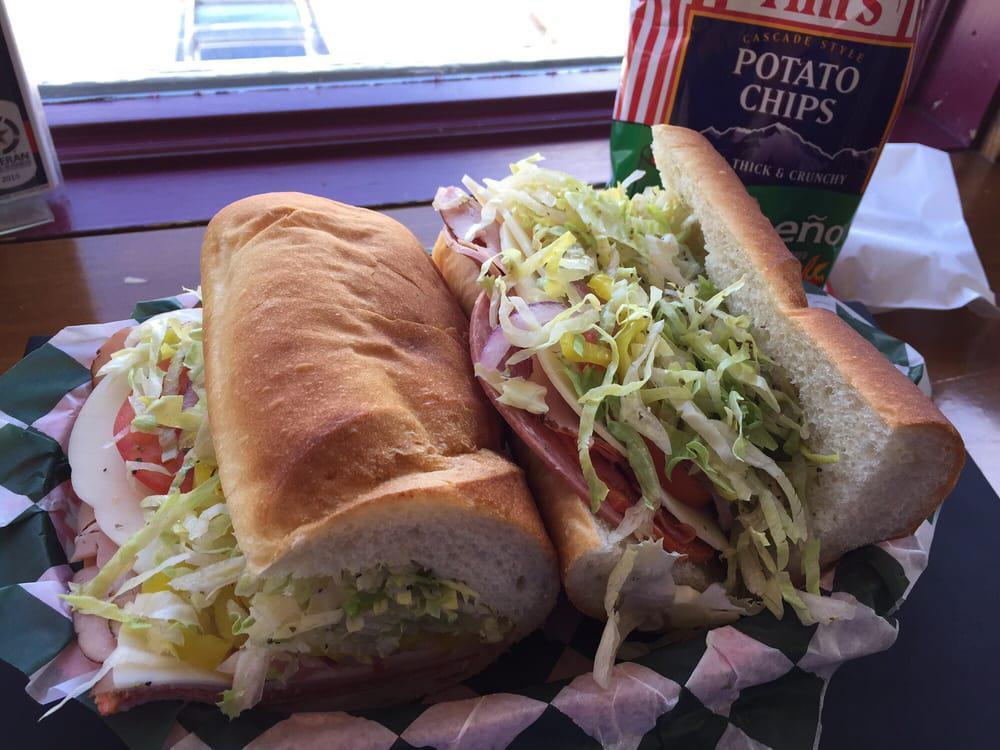 """<p>Krazy Moose is located inside a charming old building, and this homey sandwich shop offers a wide variety of classic sandwiches served on top-notch bread. Plenty of cold cuts are on offer (as well as a <a href=""""https://www.thedailymeal.com/eat/where-order-best-meatballs-america-slideshow?referrer=yahoo&category=beauty_food&include_utm=1&utm_medium=referral&utm_source=yahoo&utm_campaign=feed"""">meatball sub</a>), but the one to order is the Italian, which is packed with salami, pepperoni, capocollo, ham, provolone, lettuce, tomato, banana peppers, pepperoncini, onion, spices, oil and vinegar.</p>"""
