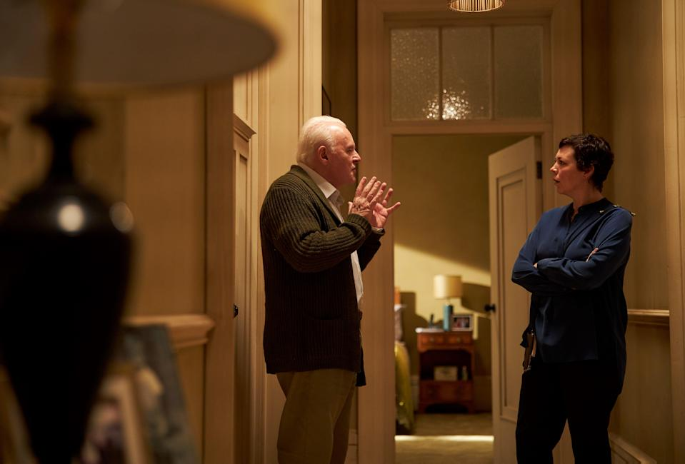 """The mental decline of Anthony (Anthony Hopkins) affects his daughter Anne (Olivia Colman) in """"The Father."""""""