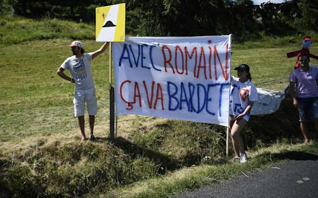 <span>Romain Bardet was racing on home roads and his fans were out in their numbers</span> <span>Credit: Getty Images </span>