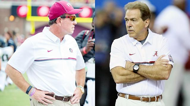 """<p>In this week's #DearAndy, Andy Staples answers your questions on...</p><p>• <strong>Can Jimbo Fisher become the first former assistant to Nick Saban to beat Saban in a game?</strong> No Saban disciple has bested him yet, but Fisher has a solid shot when Florida State opens the 2017 season against Alabama. Can the Seminoles get the win in an early matchup that could shape the College Football Playoff?</p><p>• <strong>Will Dino Babers get Syracuse to a bowl game this season?</strong> The second-year coach faces a brutal schedule that includes trips to LSU, NC State, Florida State and Louisville and a home date with Clemson. Can Babers lift the Orange to six wins for their first bowl appearance since 2013?</p><p>• <strong>Would you rather fight 50 taco-sized Taco Charltons or eat one Taco Charlton-sized taco?</strong> Fifty Taco Charltons pose some problems in a brawl because the miniature defensive ends will just keep coming in waves. But a taco the size of the 6'6"""", 277-pound Michigan draft prospect is pretty daunting, too.</p>"""