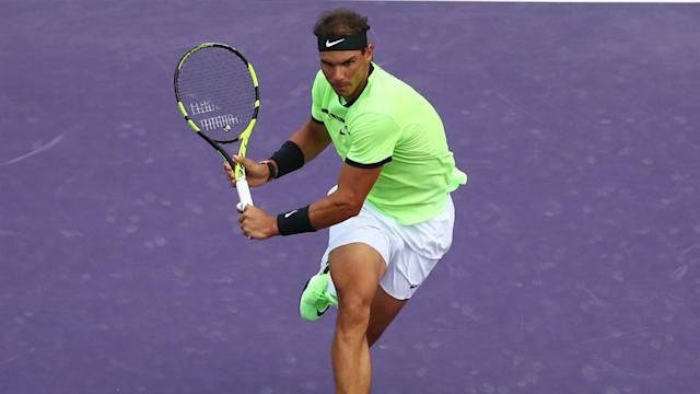 Former world number one Rafael Nadal suffered a first-set bagel but stormed back to reach the fourth round.