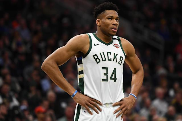 The hiatus gave Giannis Antetokounmpo time to rest his ailing knee, but does the break benefit the Bucks? (Stacy Revere/Getty Images)