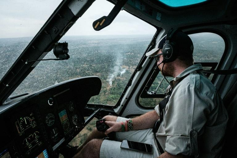 Hunter: Helicopters are sent out to spot swarms in the early morning as the locusts are roosting in trees and bushes. Pilots then call in pesticide-spraying aircraft to kill the insects