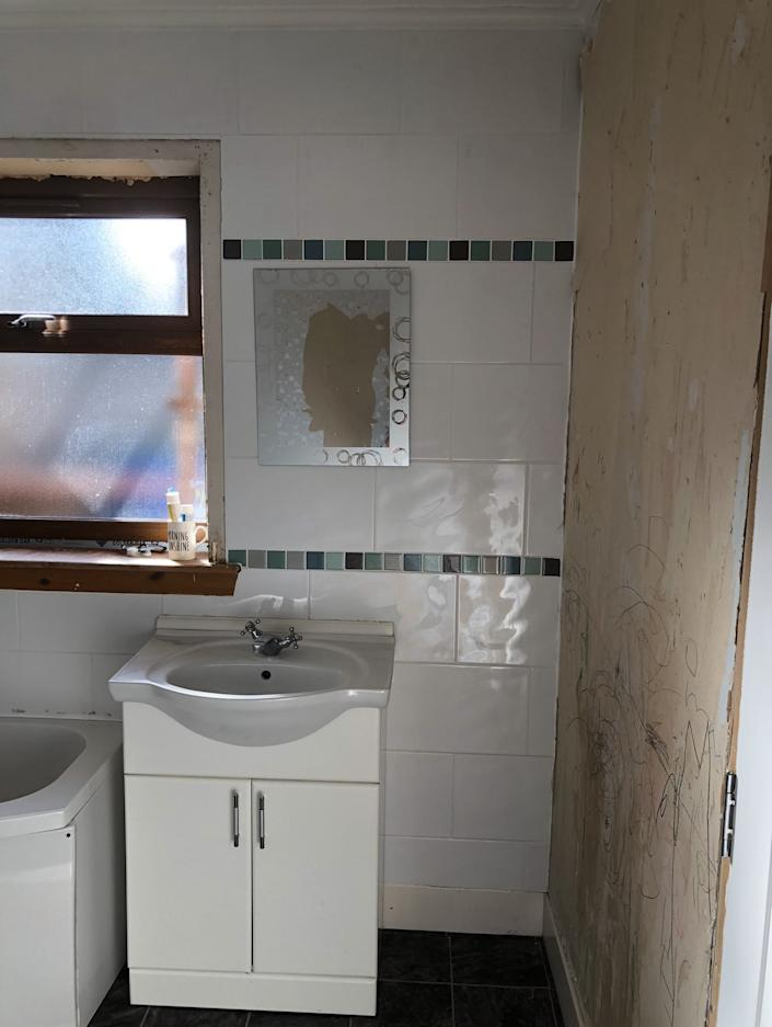 The bathroom was pretty uninspiring before(Supplied Drench)