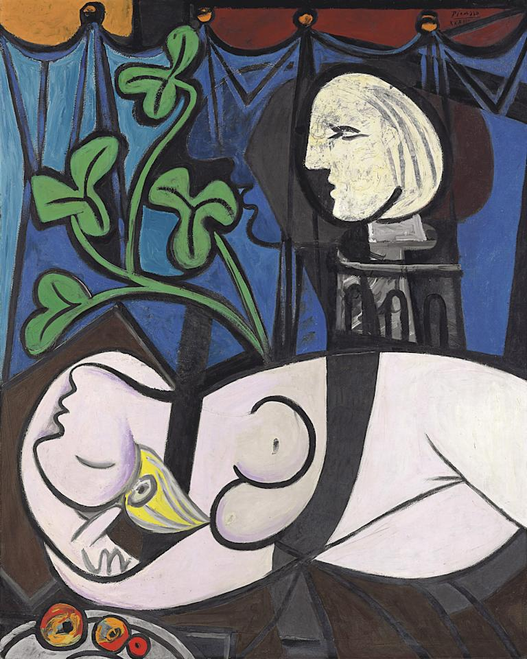 "FILE - This undated file photo provided by Christie's shows ""Nude, Green Leaves, and Bust,"" by Pablo Picasso. The 1932 painting, which sold in May 2010 for $106,482,500, tops the list of eight works that have sold for $80 million or more at auction.When Edvard Munch's ""The Scream,"" is auctioned at Sotheby's in New York Wednesday May 2, 2012, it could sell for $80 million or more. (AP Photo/ Christie's, File)"