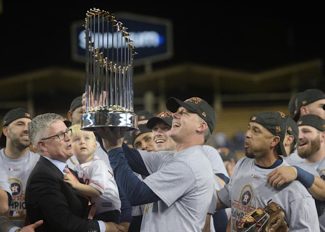 A.J. Hinch and the Astros are trying to win a second World Series in three years. (Gary A. Vasquez-USA TODAY Sports)