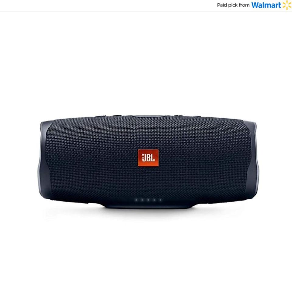 "This is a speaker that won't be too hard to figure out — they can wirelessly connect their phone or tablet for up to 20 hours of play time. And they can charge up with this speaker, too. <a href=""https://www.walmart.com/ip/JBL-Charge-4-Portable-Waterproof-Wireless-Bluetooth-Speaker-Black/472337782?sourceid=aff_ov_9d0f975a-a7e8-405c-b257-311a32fb0da1&veh=aff&wmlspartner=aff_ov_9d0f975a-a7e8-405c-b257-311a32fb0da1&cn=FY21-Holiday-Gifting_st_hw_aff_nap_ov_snl_oth"" target=""_blank"" rel=""noopener noreferrer"">Find it for $120 at Walmart</a>."