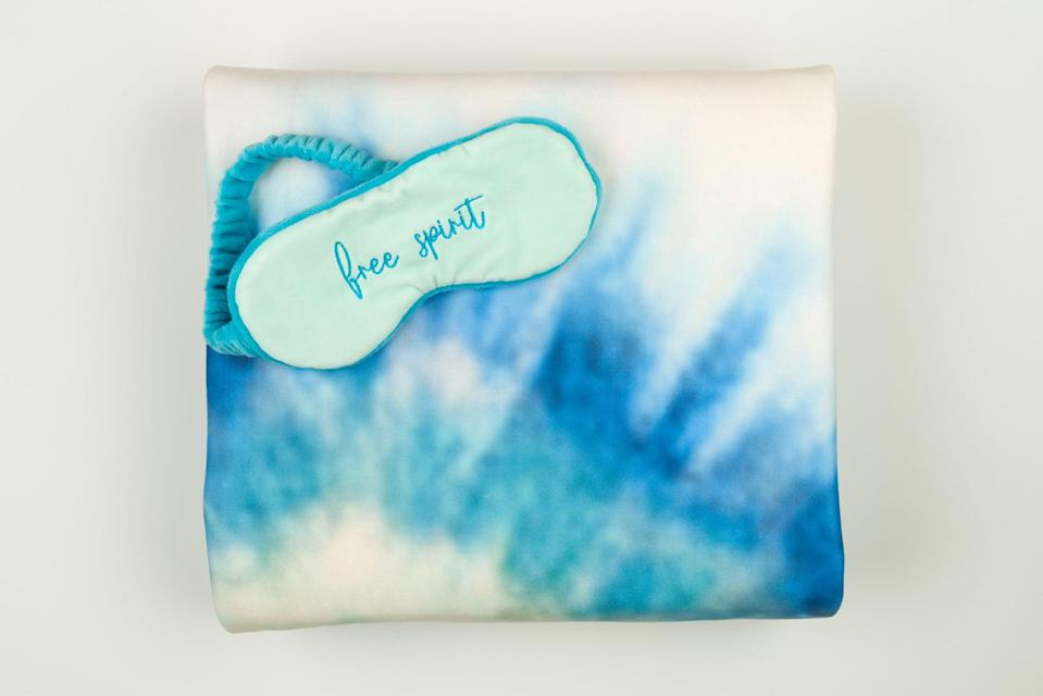 <p>Give this <span>Disney Princess X POPSUGAR Ariel Tie Dye Sweatshirt Throw and Eye Mask</span> ($30) to the chillest friend you have. The throw is made of a cozy sweatshirt material!</p>