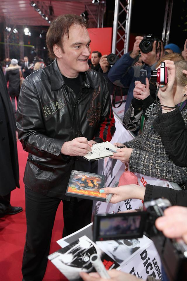 BERLIN, GERMANY - JANUARY 08: Quentin Tarantino attends 'Django Unchained' Berlin Premiere at Cinestar Potsdamer Platz on January 8, 2013 in Berlin, Germany. (Photo by Sean Gallup/Getty Images for Sony Pictures)