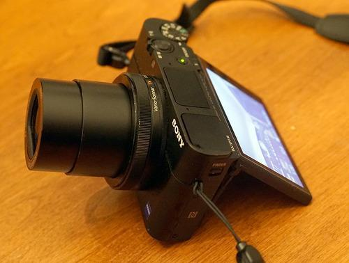 Sony M3 with screen used to prop it up