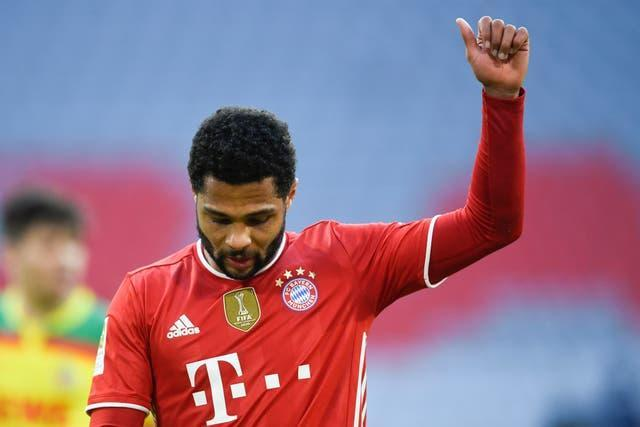 Serge Gnabry scored two late goals in Bayern Munich's thrashing of Cologne.