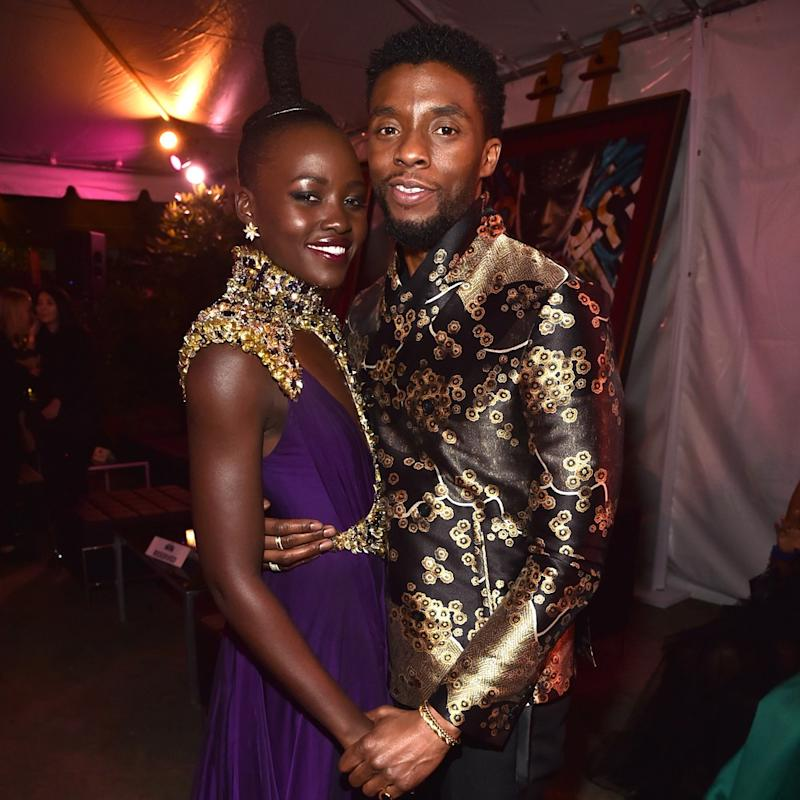 Lupita Nyong'o Re-Created Chadwick Boseman's Shirtless Magazine Cover