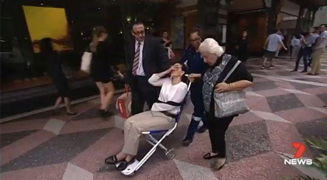 Ayoub was wheeled from court on Friday. Picture: 7 News
