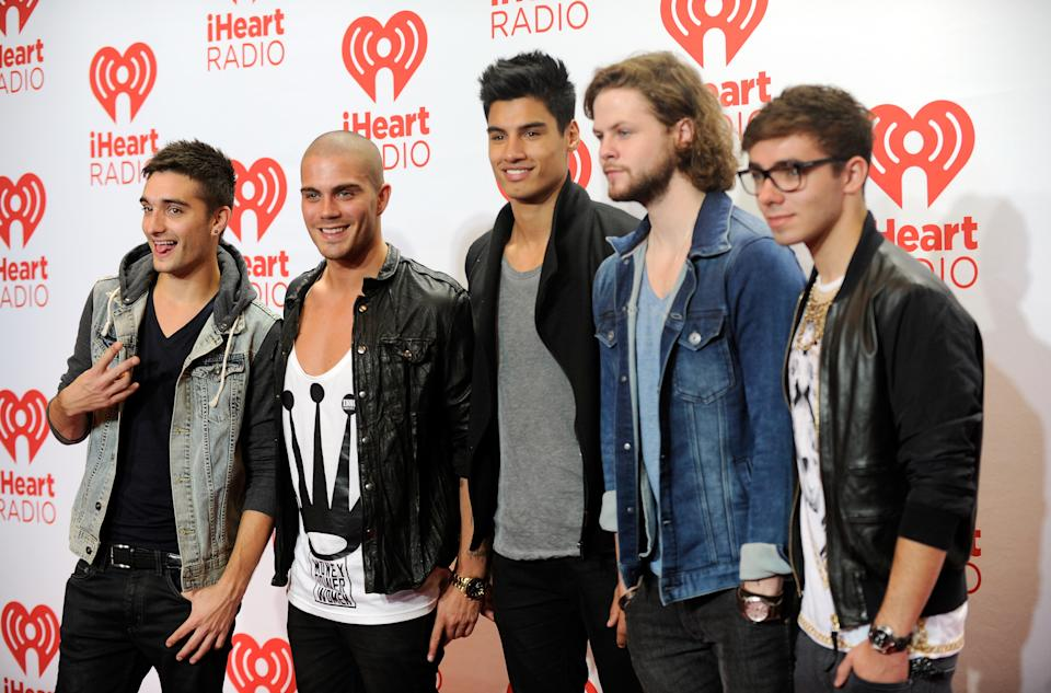 LAS VEGAS, NV - SEPTEMBER 21:  Musicians Tom Parker, Max George, Siva Kaneswaran, Jay McGuiness and Nathan Sykes of The Wanted attend the iHeartRadio Music Festival at the MGM Grand Garden Arena on September 21, 2013 in Las Vegas, Nevada.  (Photo by David Becker/Getty Images for Clear Channel)