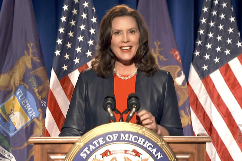 La gobernadora de Michigan, Gretchen Whitmer. (Getty Images)