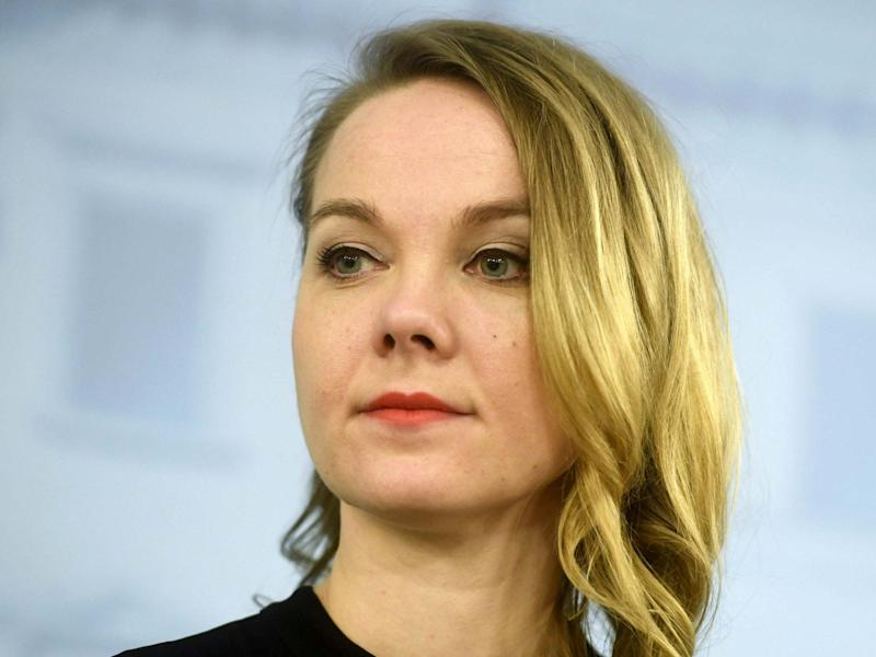 Katri Kulmuni​ became Finland's finance minister this week: Lehtikuva/Vesa Moilanen via REUTERS