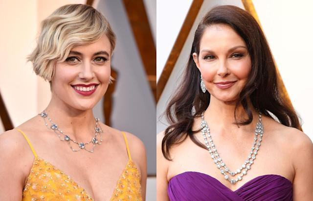 Greta Gerwig and Ashley Judd. (Photo: Getty Images)