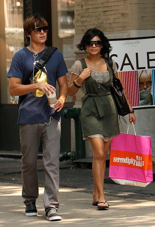 "With ""High School Musical 2"" coming out in less than two weeks, expect to see lots more of photogenic tween stars Zac Efron and Vanessa Anne Hudgens. They're so purty. A. Macpherson/<a href=""http://www.splashnewsonline.com"" target=""new"">Splash News</a> - August 3, 2007"